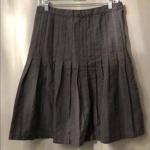 Gray Accordion Pleat Skirt